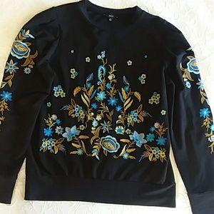 Anthro Drew Embroidered sweatshirt
